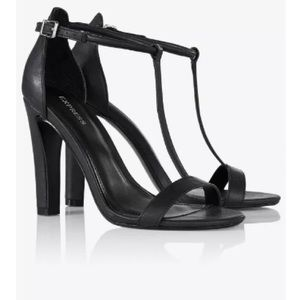 EXPRESS Women's Slim T-Strap Heel Sandal Sz 8 M US
